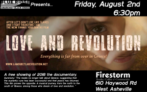 flyer for Love And Revolution showing